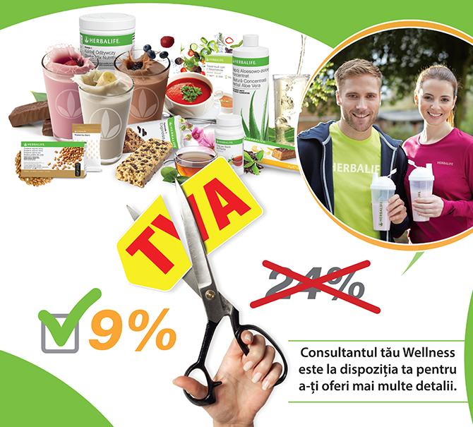 Preturi mai mici pentru produsele nutritionale Herbalife